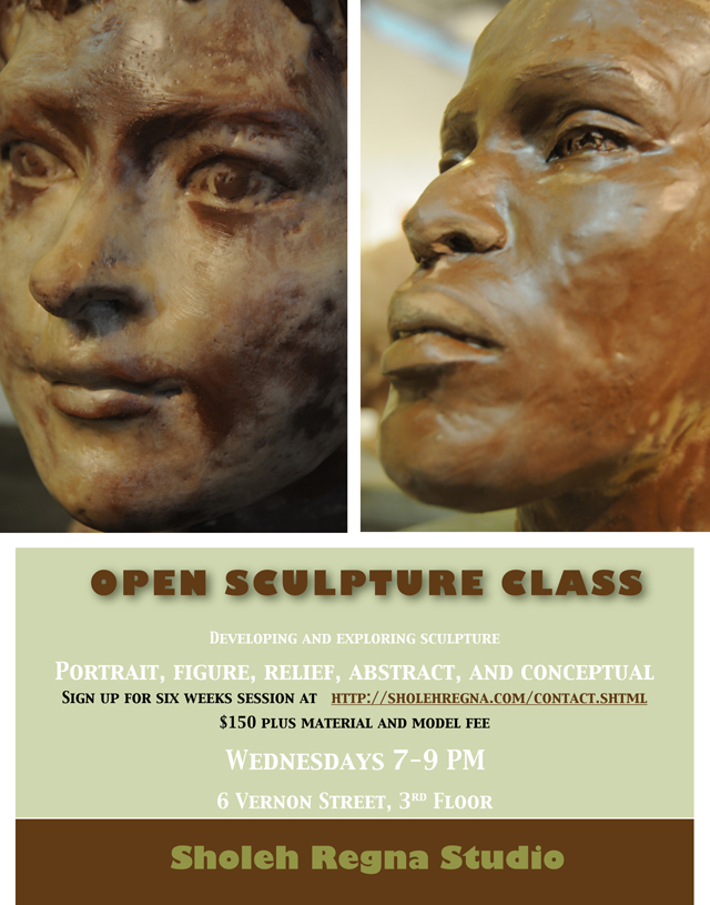 Sculpture class at Sholeh Regna Studio