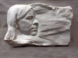 Portrait Relief by Sholeh Regna